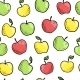 Seamless Doodle Pattern with Apples - GraphicRiver Item for Sale