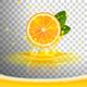 Juicy Orange with Juice Splash and Squeezed Juice Foam - GraphicRiver Item for Sale