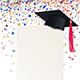 Graduate Cap and Diploma with Multicolored Confetti - GraphicRiver Item for Sale