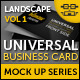 Universal Business Card Mock Up - GraphicRiver Item for Sale