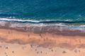 Aerial looking down view of people enjoying the beach in California - PhotoDune Item for Sale