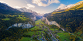 Aerial view of Lauterbrunnen valley in Switzerland with autumn colors - PhotoDune Item for Sale