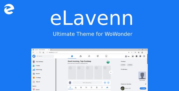 eLavenn - The Ultimate WoWonder Theme Download