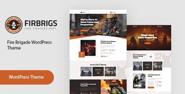 Firbrigs - Fire Department WordPress Theme