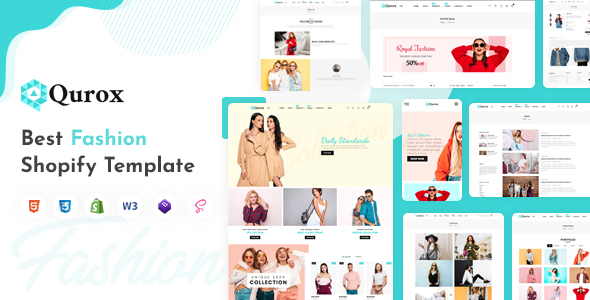 Download Qurox – Responsive Shopify Fashion Theme Nulled