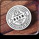 Beer Coaster Mock-up - GraphicRiver Item for Sale