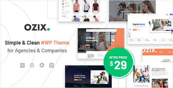 Ozix – Agencies and Companies WordPress Theme