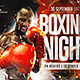 Flyer Boxing Night Template - GraphicRiver Item for Sale
