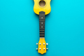 Overhead Photo Of Yellow Ukulele With Copy Space - PhotoDune Item for Sale