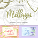 Mellau   Modern Calligraphy - GraphicRiver Item for Sale