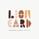 Lion Card | Handmade Geometric Font - GraphicRiver Item for Sale