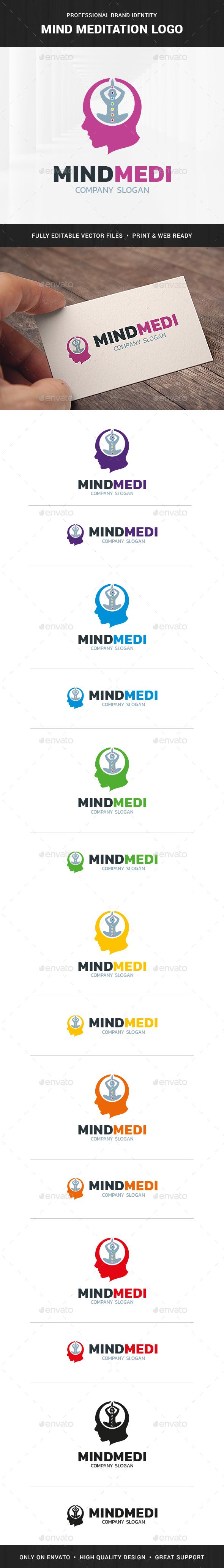 Mind Meditation Logo Template