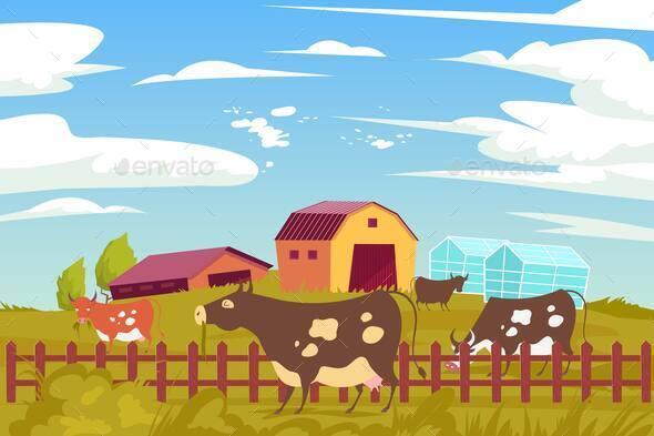 Eco Farming Cows Composition