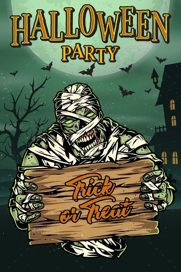 Halloween Party Colorful Template