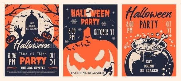 Halloween Party Vintage Brochures