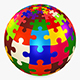 Colored Sphere Puzzle v 1 - 3DOcean Item for Sale