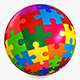 Colored Sphere Puzzle v 4 - 3DOcean Item for Sale
