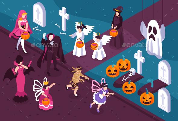 Halloween Isometric Illustration