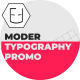 Moder Typography Promo - VideoHive Item for Sale
