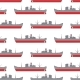 Seamless Sea Pattern with the Cargo Steamships - GraphicRiver Item for Sale