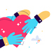 Cartoon vector illustration of hand holding - GraphicRiver Item for Sale