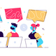 Vector Cartoon Illustration of Co-Working Team - GraphicRiver Item for Sale