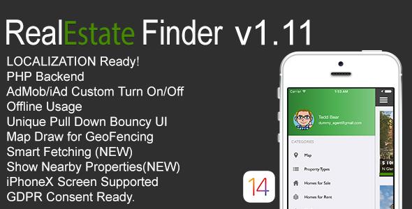 RealEstate Finder Full iOS Application v1.11