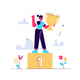Cartoon Vector Illustration of Successful Woman - GraphicRiver Item for Sale