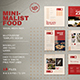 Minimalist Food Social Media Pack - GraphicRiver Item for Sale
