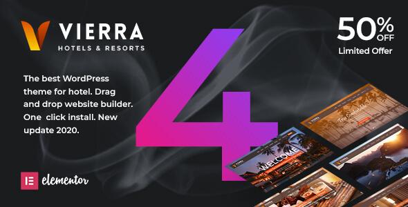 Vierra Hotel, Resort, Inn & Booking Elementor