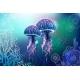 Vivid Neon Light Illustration of Jellyfish - GraphicRiver Item for Sale