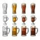Glass with Three Types of Beer - GraphicRiver Item for Sale