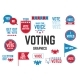 American Presidential Election Badges and Vote - GraphicRiver Item for Sale