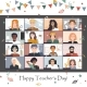 Happy Teacher s Day 2020. Online Students Lesson - GraphicRiver Item for Sale