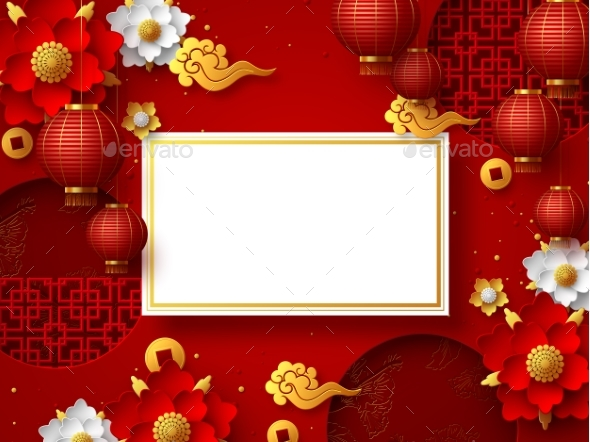 Chinese New Year Typography Design.