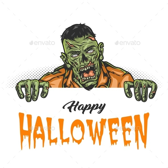 Happy Halloween vintage concept