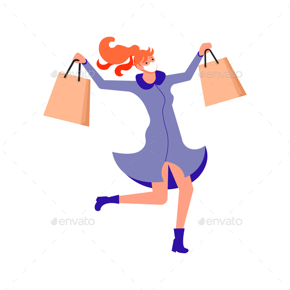 Joyful shopping People
