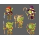 Goblins Characters Set Dungeon Monster Army - GraphicRiver Item for Sale
