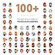100+ Professions Avatars - GraphicRiver Item for Sale