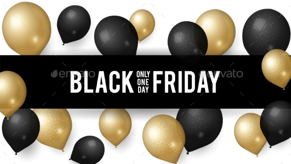 Sale Black Friday. Shopping Discount Banner