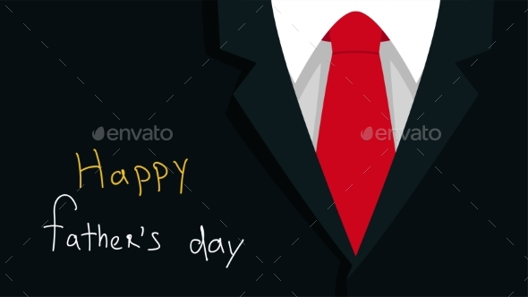 Father Day Dark Background with Red Tie