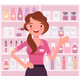 Perfume Shop Female Attractive Employee, Sales - GraphicRiver Item for Sale