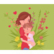 Mom and Baby Daughter, Female Health in Happy - GraphicRiver Item for Sale
