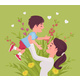 Mom and Baby Son, Female Health in Happy Family - GraphicRiver Item for Sale
