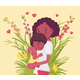 Mom and Baby Son, Female Health in Happy Black - GraphicRiver Item for Sale
