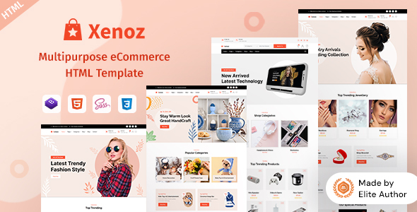 Download Xenoz – Multipurpose eCommerce HTML Template Nulled