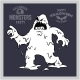 Cartoon Monster for Halloween. Black and White - GraphicRiver Item for Sale