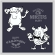 Set of Cartoon Monsters for Halloween. A - GraphicRiver Item for Sale