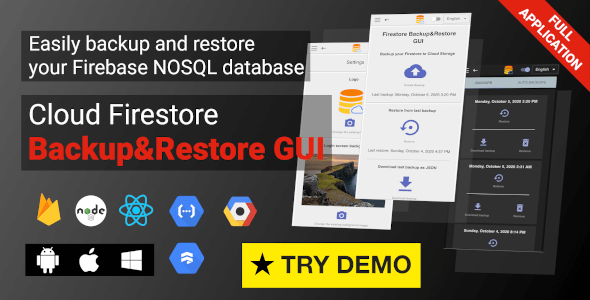 Firestore Backup & Restore GUI