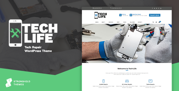 TechLife - Mobile, Tech & Electronics Repair Shop WordPress Theme